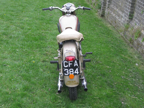 1954 bsa a10 650 golden flash back