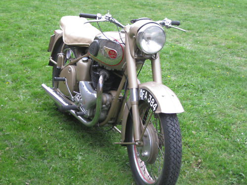 1954 bsa a10 650 golden flash front
