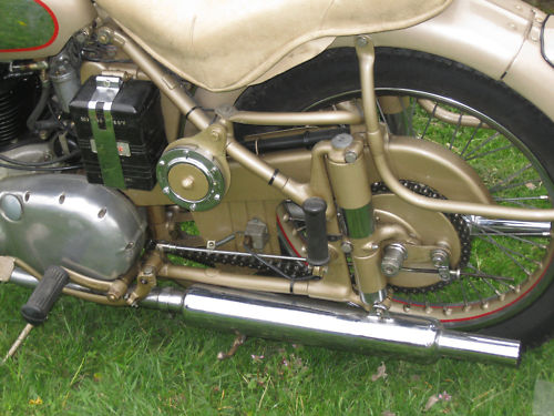 1954 bsa a10 650 golden flash rear wheel