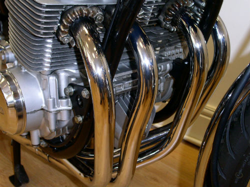 1976 honda cb 750 f1 supersport front exhauat pipes