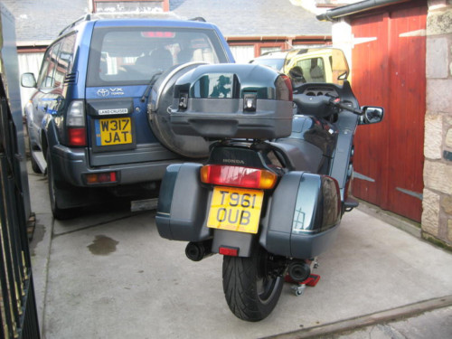 1999 honda st1100 pan european back