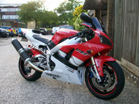 133 1999 yamaha yzf-r1 white icon