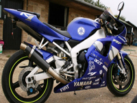 199 2001 yamaha yzf-r1 blue white icon