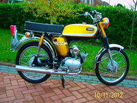 339 1973 yamaha fs1-e pedal model candy gold concours rebuild icon