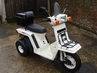 351 1985 honda gyro x three wheel 50 cc moped icon