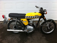 423 1976 Yamaha FS1-DX FS1E FS1 Fizzy Fissy Kenny Roberts Competition Yellow Icon