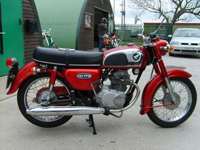 446 1978 Honda CD175 Red 68 Miles From New Icon