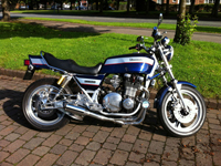 463 1981 Kawasaki KZ1100 Blue Icon