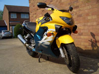 91 1999 honda cbr 600 fx yellow icon