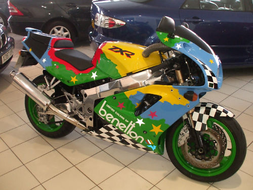 1992 kawasaki zxr 750 j1 benetton colours 1