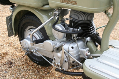1952 lambretta 125d scooter engine