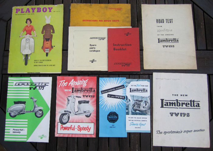1958 tv175 series 1 lambretta innocenti books manuals