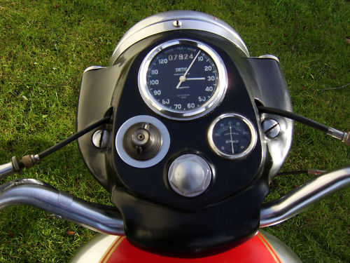 1963 royal enfield unit 350cc bullet speedometer